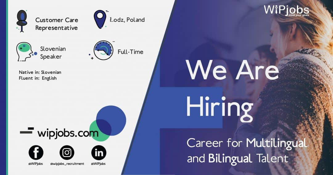 Customer Care Representative SLOVENIAN Speaker