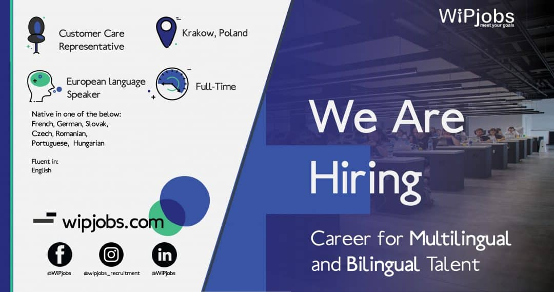 Customer Care Representative with 2 European Languages
