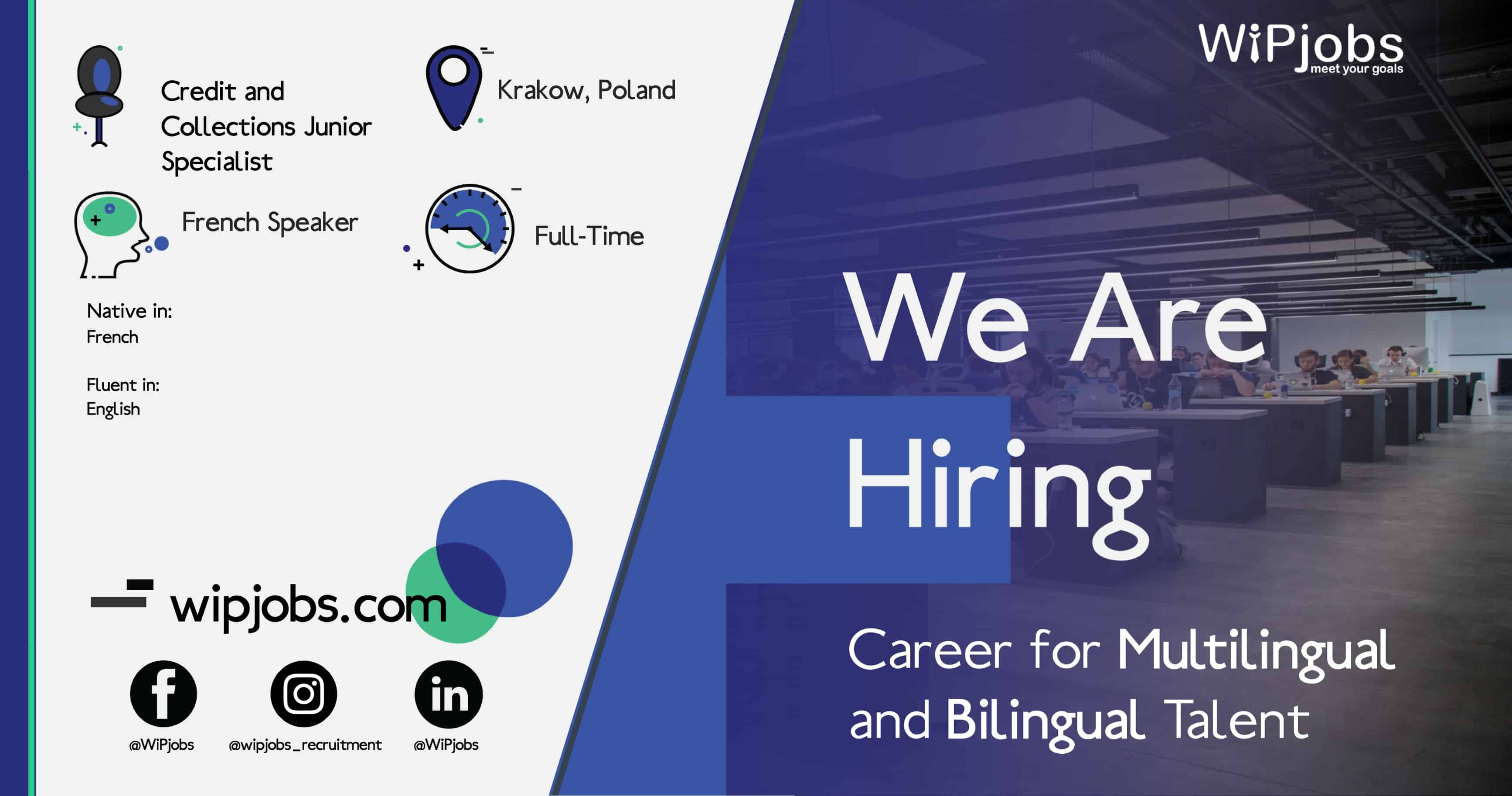 Credit and Collections Junior Specialist with French