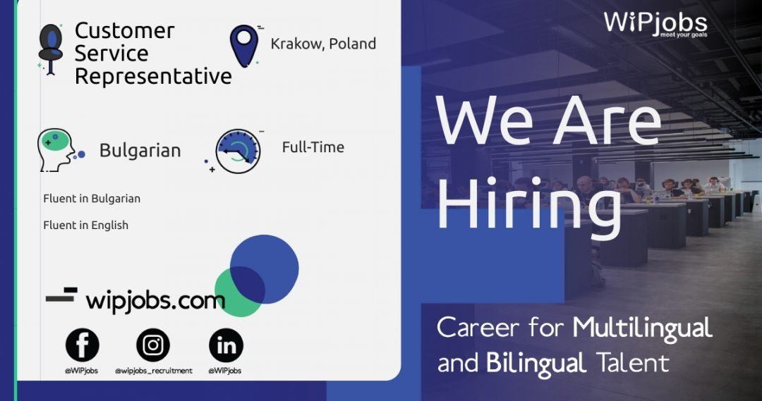 Customer Service Representative BULGARIAN Speaker