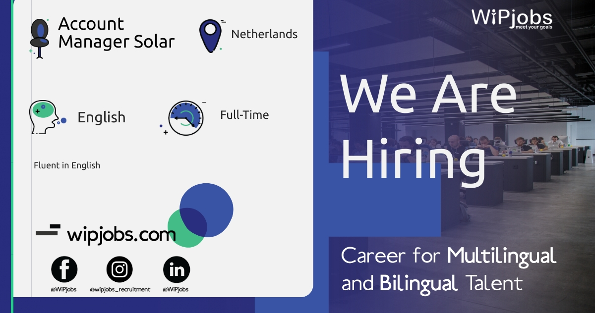 Account Manager Solar ENGLISH Speaker