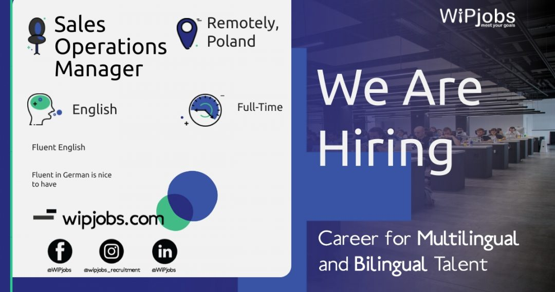 Sales Operations Analyst & Growth Manager ENGLISH Speaker