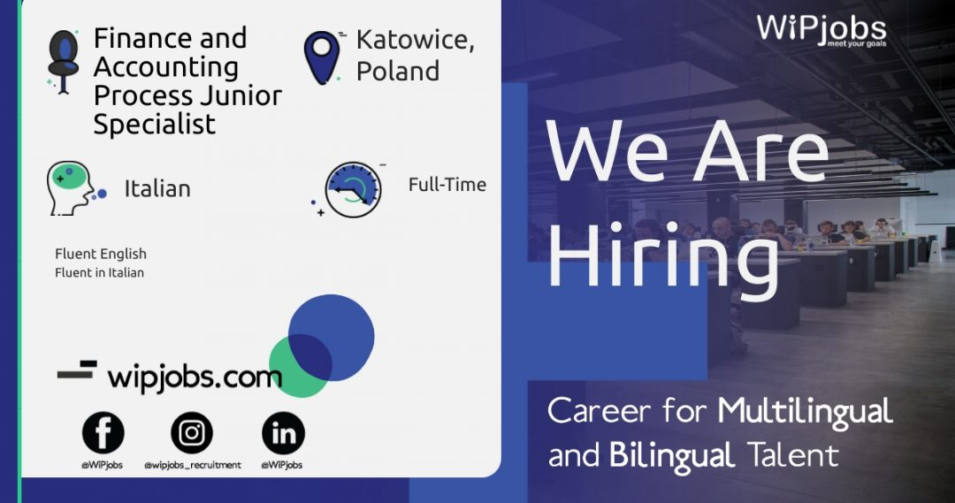 Finance and Accounting Process Junior Specialist ITALIAN Speaker