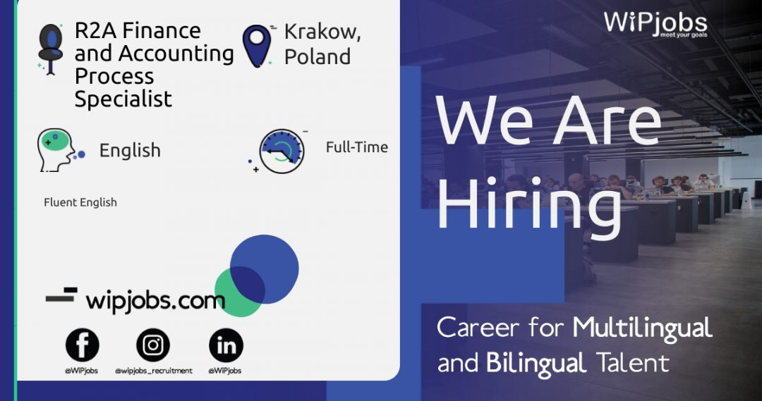 R2A Finance and Accounting Process Specialist ENGLISH Speaker