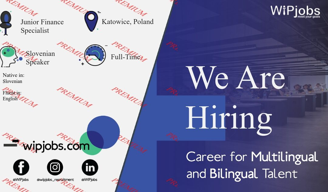 Finance and Accounting Process Junior Specialist with Slovenian