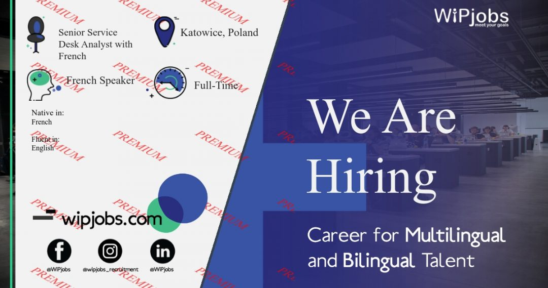 Senior Service Desk Analyst with French